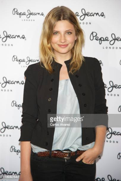 Spanish actress Miriam Giovanelli attends 'Pepe Jeans' new store opening in Madrid on June 2 2011 in Madrid Spain