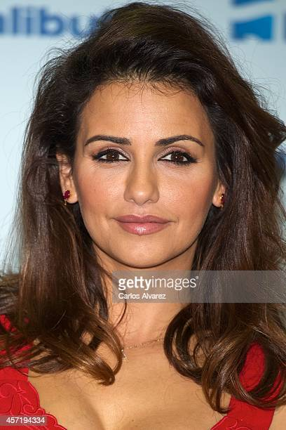 Spanish actress Monica Cruz presents the new 'Halibut' skin products at the Q17 Club on October 14 2014 in Madrid Spain