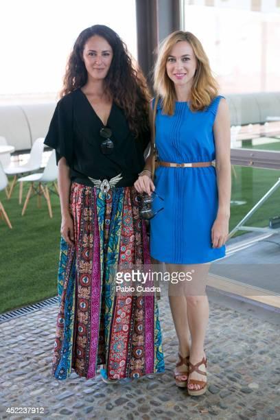 Spanish actress Monica Estarreado and Marta Hazas attend MFShow Men on July 16 2014 in Madrid Spain