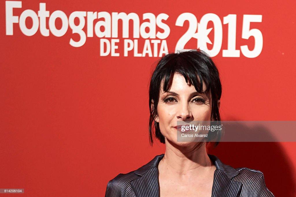 Spanish actress Najwa Nimri attends the Fotogramas Awards 2015 at the Joy Eslava Club on March 7 2016 in Madrid Spain