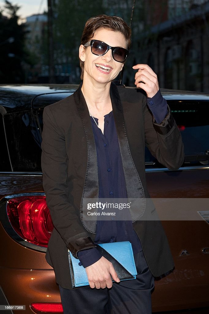 Spanish actress <a gi-track='captionPersonalityLinkClicked' href=/galleries/search?phrase=Najwa+Nimri&family=editorial&specificpeople=578073 ng-click='$event.stopPropagation()'>Najwa Nimri</a> attends the new 'Mini Paceman' presentation party at the Museo del Ferrocarril on April 18, 2013 in Madrid, Spain.