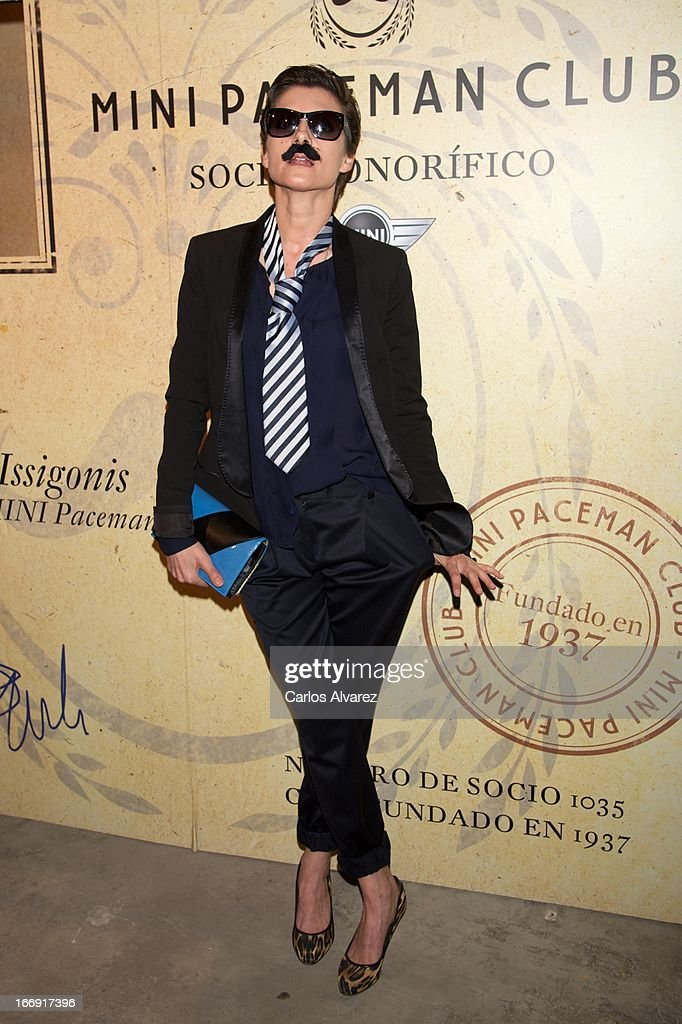 Spanish actress Najwa Nimri attends the new 'Mini Paceman' presentation party at the Museo del Ferrocarril on April 18, 2013 in Madrid, Spain.