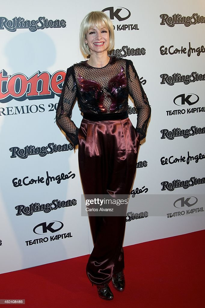 Spanish actress <a gi-track='captionPersonalityLinkClicked' href=/galleries/search?phrase=Najwa+Nimri&family=editorial&specificpeople=578073 ng-click='$event.stopPropagation()'>Najwa Nimri</a> attends the Rolling Stone Magazine Awards 2013 at the Kapital Club on November 28, 2013 in Madrid, Spain.