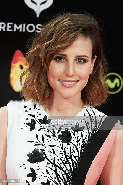 Spanish actress Natalia de Molina attends the Feroz Awards 2016 red carpet at the Gran Teatro Principe Pio on January 19 2016 in Madrid Spain