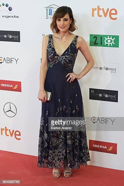 Spanish actress Natalia de Molina attends the Jose Maria Forque Awards 2015 at the Palacio Municipal de Congresos on January 11 2016 in Madrid Spain