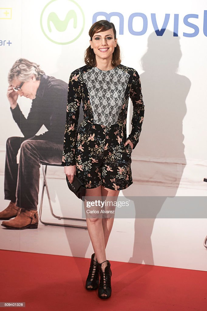 Spanish actress <a gi-track='captionPersonalityLinkClicked' href=/galleries/search?phrase=Natalia+de+Molina&family=editorial&specificpeople=11184153 ng-click='$event.stopPropagation()'>Natalia de Molina</a> attends the 'Que fue de Jorge Sanz' premiere at the Proyecciones cinema on February 10, 2016 in Madrid, Spain.