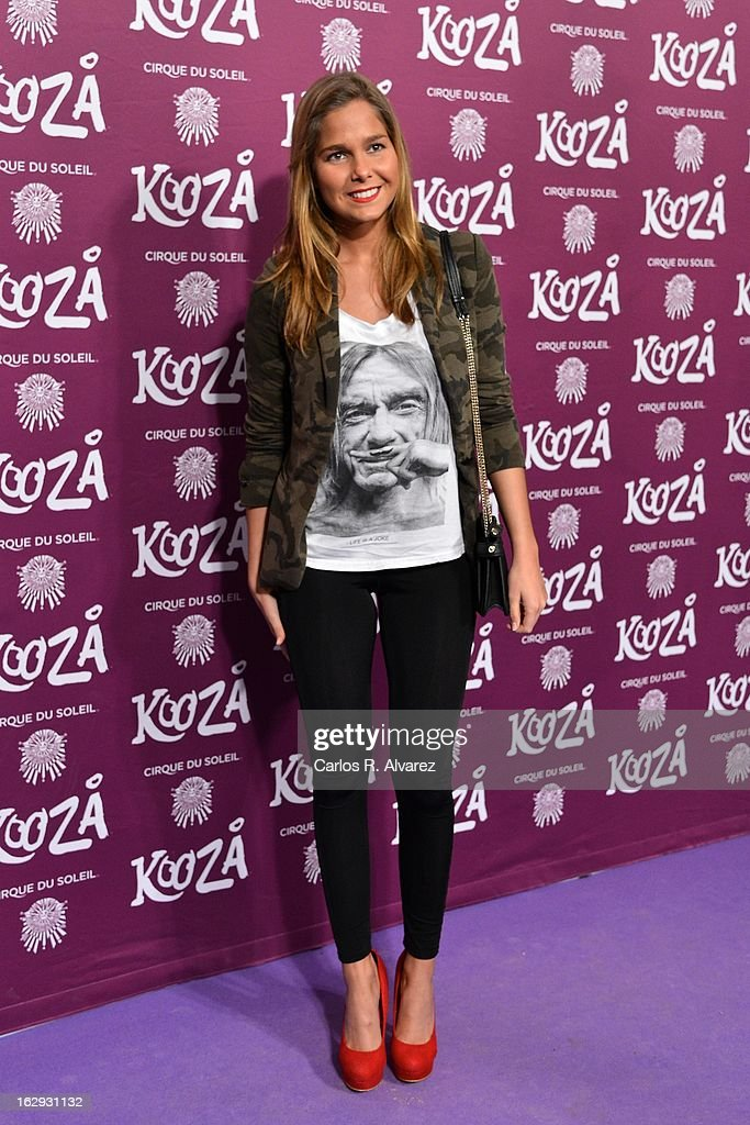 Spanish actress Natalia Sanchez attends 'Cirque Du Soleil' Kooza 2013 premiere on March 1, 2013 in Madrid, Spain.