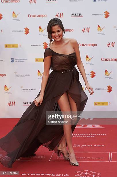 Spanish actress Natalia Sanchez attends the 18th Malaga Spanish Film Festival close ceremony at the Cervantes Theater on April 25 2015 in Malaga Spain