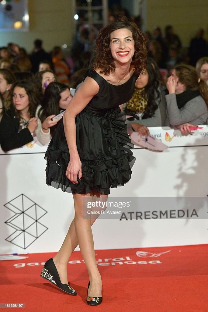 Spanish actress <a gi-track='captionPersonalityLinkClicked' href=/galleries/search?phrase=Natalia+Tena&family=editorial&specificpeople=4356716 ng-click='$event.stopPropagation()'>Natalia Tena</a> attends the 17th Malaga Film Festival 2014 closing ceremony at the Cervantes Theater on March 29, 2014 in Malaga, Spain.