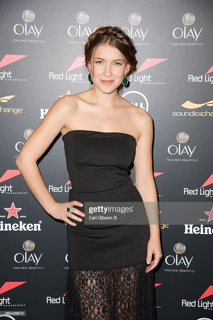 Spanish Actress <a gi-track='captionPersonalityLinkClicked' href=/galleries/search?phrase=Nathalia+Ramos&family=editorial&specificpeople=4428138 ng-click='$event.stopPropagation()'>Nathalia Ramos</a> attends The Grammy Awards Red Light Management Party at Sky Bar, Mondrian Hotel on January 26, 2014 in West Hollywood, California.