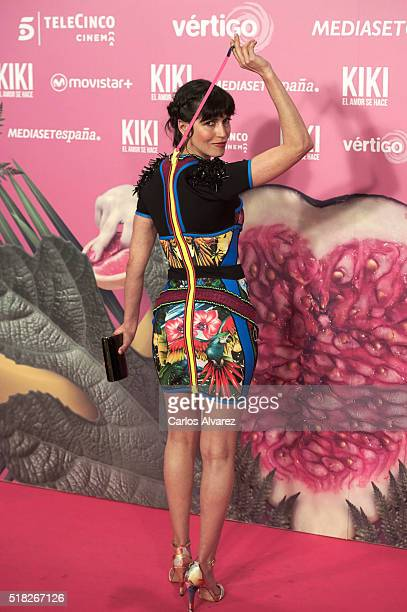 Spanish actress Nerea Barros attends 'Kiki El Amor Se Hace' premiere at the Capitol premiere on March 30 2016 in Madrid Spain