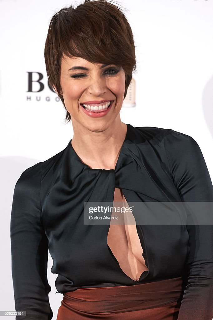 Spanish actress Nerea Garmendia attends Hugo Boss 'Man Of Today' presentation at the NH Eurobuilding Hotel on February 3 2016 in Madrid Spain