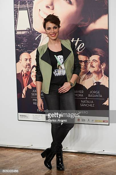 Spanish actress Nerea Garmendia attends 'Ninette y un Senor de Murcia' premiere at the Fernan Nunez Theater on January 14 2016 in Madrid Spain