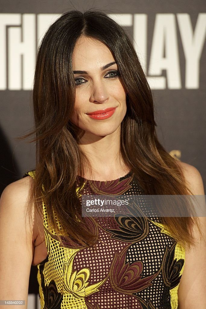 Spanish actress Nerea Garmendia attends 'The Pelayos' premiere at Fortuny Club on April 24, 2012 in Madrid, Spain.