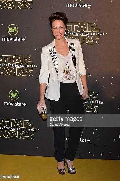 Spanish actress Nerea Garmendia attends the 'Star Wars The Force Awakens' premiere at the Callao cinema on December 16 2015 in Madrid Spain