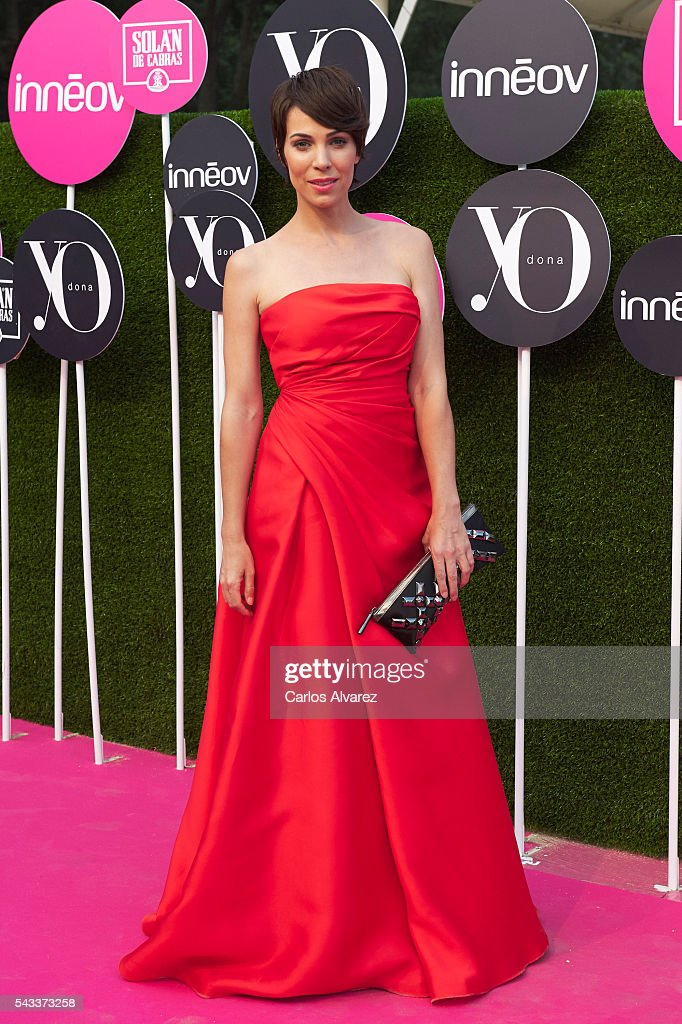 Spanish actress <a gi-track='captionPersonalityLinkClicked' href=/galleries/search?phrase=Nerea+Garmendia&family=editorial&specificpeople=5683045 ng-click='$event.stopPropagation()'>Nerea Garmendia</a> attends 'Yo Dona' International awards on June 27, 2016 in Madrid, Spain.