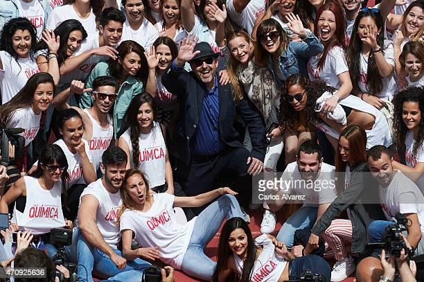 Spanish actress Neus Asensi Spanish director Alfonso Albacete and Spanish actresses Maria Esteve and Natalia de Molina pose for the photographers to...
