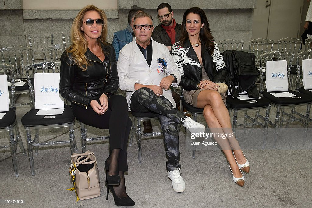 Spanish Actress Norma Duval and Spanish Journalist Silvia Jato attend to 'Costura Espana' Fashion Show on May 20 2014 in Madrid Spain