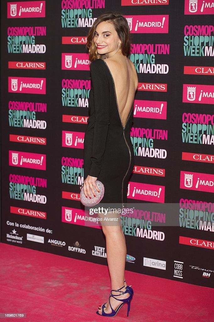 Spanish actress <a gi-track='captionPersonalityLinkClicked' href=/galleries/search?phrase=Norma+Ruiz&family=editorial&specificpeople=4152734 ng-click='$event.stopPropagation()'>Norma Ruiz</a> attends the 'Cosmopolitan Shopping Week' party at the Plaza de Callao on May 28, 2013 in Madrid, Spain.