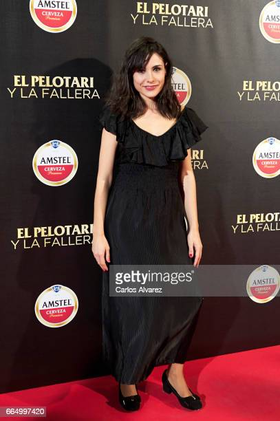 Spanish actress Olga Alaman attends 'El Pelotari Y La Fallera' premiere at the Callao cinema on April 5 2017 in Madrid Spain