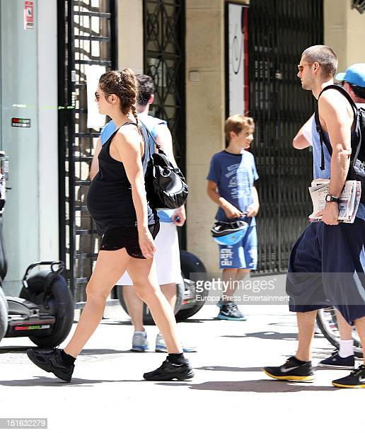 Spanish actress Olivia Molina and boyfriend Sergio Mur are seen on August 12 2012 in Madrid Spain