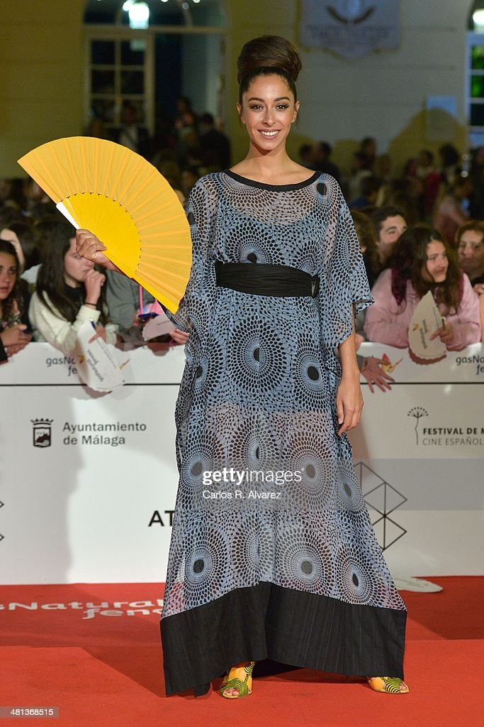 Spanish actress Oona Chaplin attends the 17th Malaga Film Festival 2014 closing ceremony at the Cervantes Theater on March 29, 2014 in Malaga, Spain.