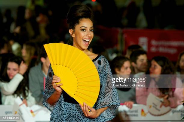 Spanish actress Oona Chaplin attends the 17th Malaga Film Festival 2014 closing ceremony at the Cervantes Theater on March 29 2014 in Malaga Spain