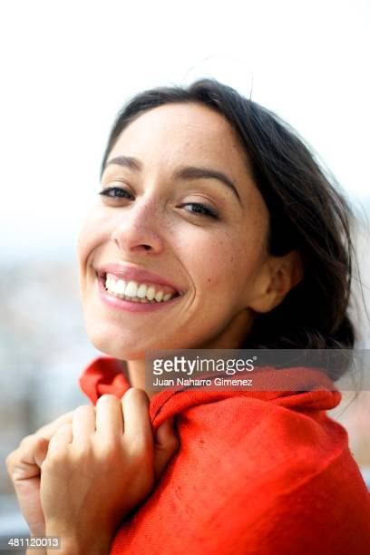 Spanish actress Oona Chaplin presents 'Purgatorio' movie during the 17th Malaga Film Festival 2014 at Hotel AC Malaga on March 28 2014 in Malaga Spain