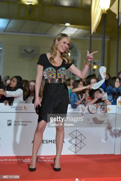 Spanish actress Patricia Conde attends the 'Carmina y Amen' premiere during the 17th Malaga Film Festival at the Cervantes Theater on March 22 2014...