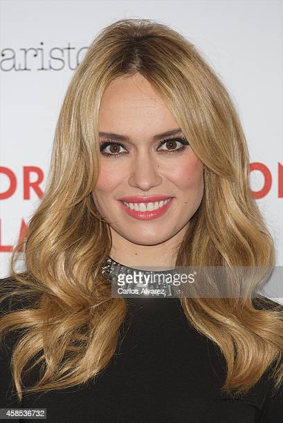 Spanish actress Patricia Conde attends the Madrid Fashion Film Festival photocall at the Cibeles Palace on November 6 2014 in Madrid Spain