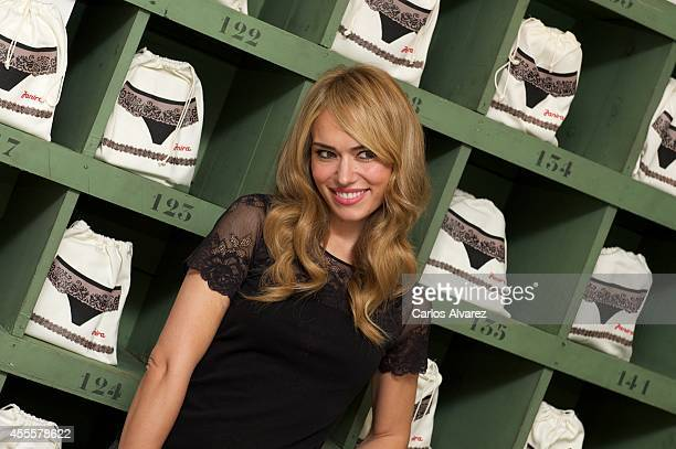Spanish actress Patricia Conde presents the Janira Leggins New Collection at the Beautyque Nail Bar on September 17 2014 in Madrid Spain