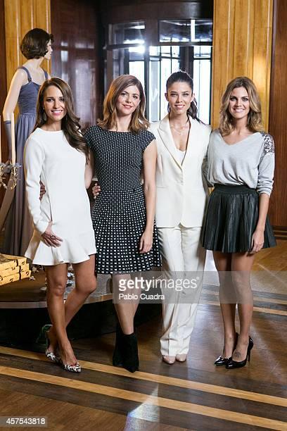 Spanish actress Paula Echevarria Manuela Velasco Juana Acosta and Amaia Salamanca pose during a photocall to present the 2nd season of 'Velvet' at A3...