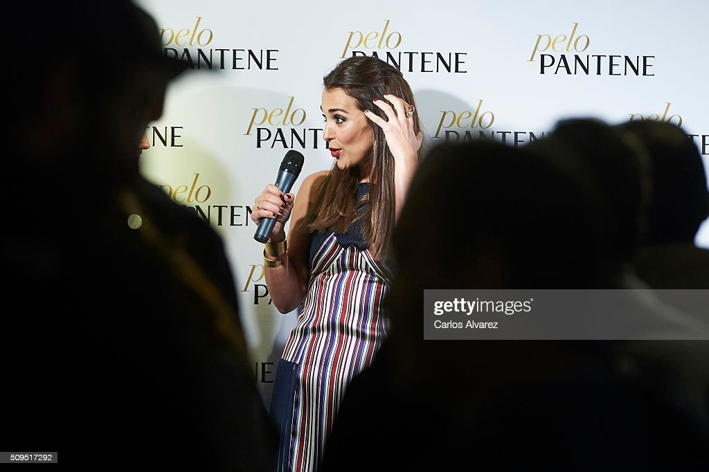 Spanish actress Paula Echevarria presents 'Mi PeloPantene' on February 11, 2016 in Madrid, Spain.