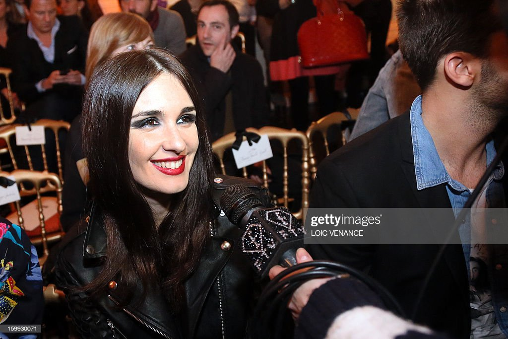 Spanish actress Paz Vega attends French designer Jean Paul Gaultier's show during the Haute Couture Spring-Summer 2013 collection presentations on January 23, 2013 in Paris.