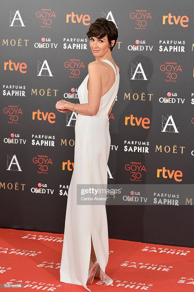 Spanish actress <a gi-track='captionPersonalityLinkClicked' href=/galleries/search?phrase=Paz+Vega&family=editorial&specificpeople=208840 ng-click='$event.stopPropagation()'>Paz Vega</a> attends Goya Cinema Awards 2016 at Madrid Marriott Auditorium on February 6, 2016 in Madrid, Spain.