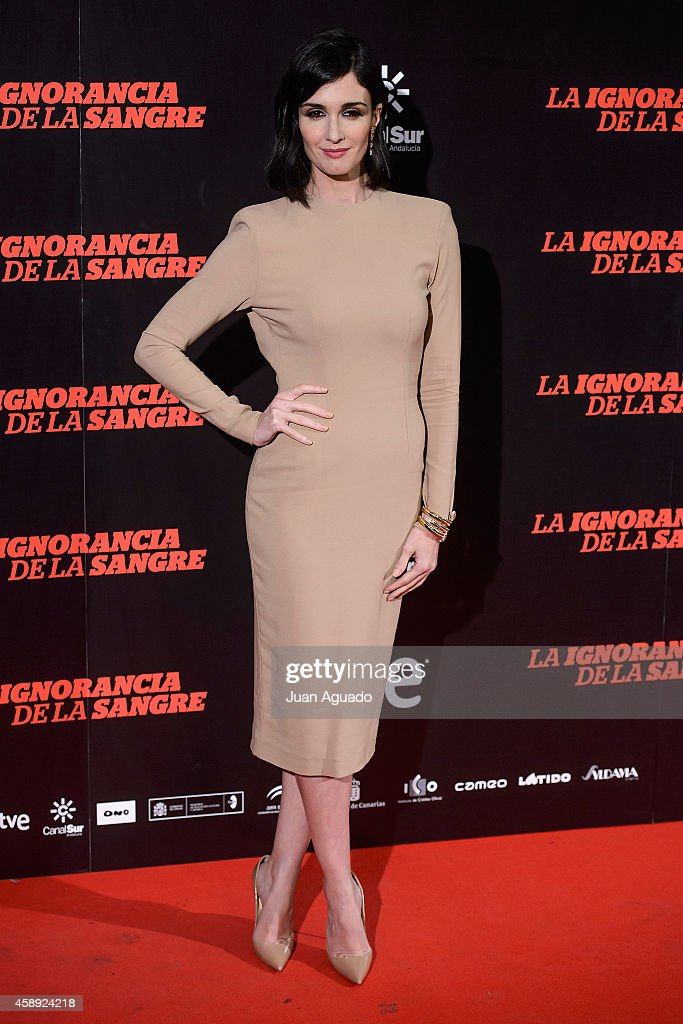Spanish actress <a gi-track='captionPersonalityLinkClicked' href=/galleries/search?phrase=Paz+Vega&family=editorial&specificpeople=208840 ng-click='$event.stopPropagation()'>Paz Vega</a> attends 'La Ignorancia de la Sangre' Madrid Premiere at the Capitol Cinema on November 13, 2014 in Madrid, Spain.