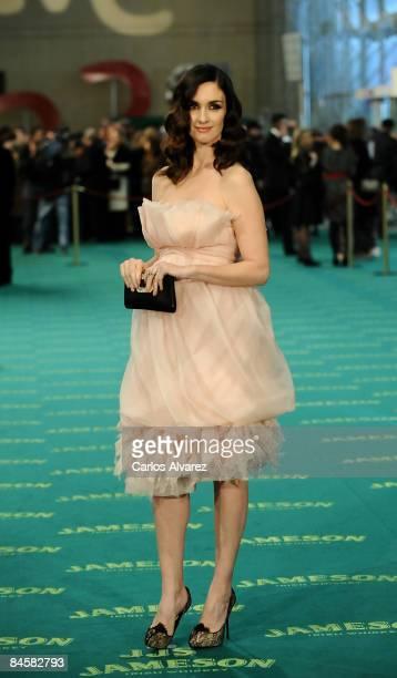 Spanish actress Paz Vega attends the Goya Cinema Awards 2009 ceremony on February 01 2009 at the Palacio de Congresos in Madrid Spain