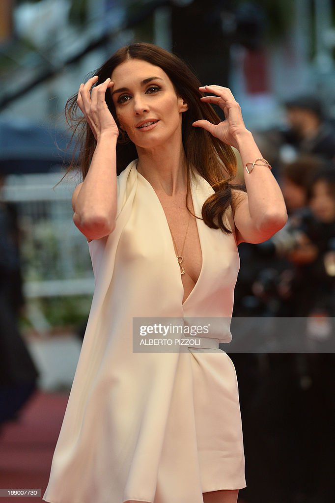 Spanish actress Paz Vega poses on May 18, 2013 as she arrives for the screening of the film 'Jimmy P. Psychotherapy of a Plains Indian' presented in Competition at the 66th edition of the Cannes Film Festival in Cannes. Cannes, one of the world's top film festivals, opened on May 15 and will climax on May 26 with awards selected by a jury headed this year by Hollywood legend Steven Spielberg.