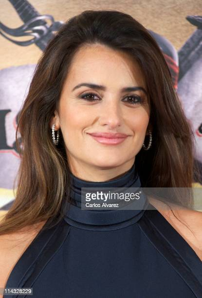 Spanish actress Penelope Cruz attends 'Pirates Of The Caribbean On Stranger Tides' photocall at the Villamagna Hotel on May 18 2011 in Madrid Spain