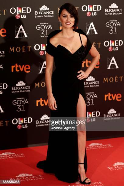 Spanish actress Penelope Cruz attends the 31th edition of the Goya Awards ceremony in Madrid Spain on February 42017