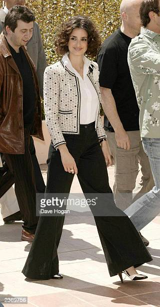 Spanish actress Penelope Cruz attends the 56th International Film Festival for her film ''Fanfan la tulipe '' on May 14th 2003 in Cannes