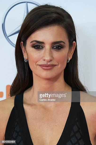 Spanish actress Penelope Cruz attends the Jose Maria Forque Awards 2015 at the Palacio Municipal de Congresos on January 11 2016 in Madrid Spain