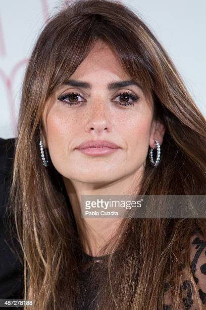Spanish actress Penelope Cruz attends the 'Ma Ma' photocall at the Villa Magna Hotel on September 8 2015 in Madrid Spain