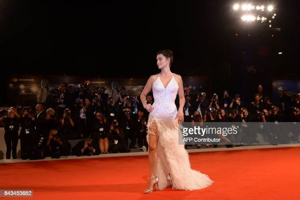Spanish actress Penelope Cruz attends the premiere of the movie 'Loving Pablo' presented out of competition at the 74th Venice Film Festival on...