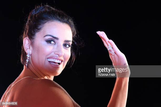 TOPSHOT Spanish actress Penelope Cruz attends the premiere of the movie 'Loving Pablo' presented out of competition at the 74th Venice Film Festival...