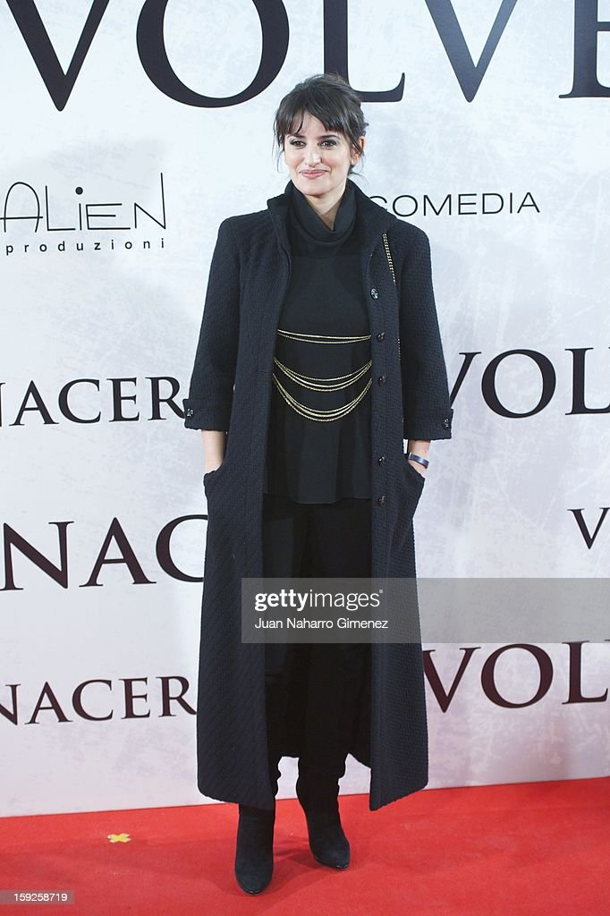 Spanish actress Penelope Cruz attends 'Venuto Al Mondo' (Volver A Nacer) premiere at Capitol cinema on January 10, 2013 in Madrid, Spain.
