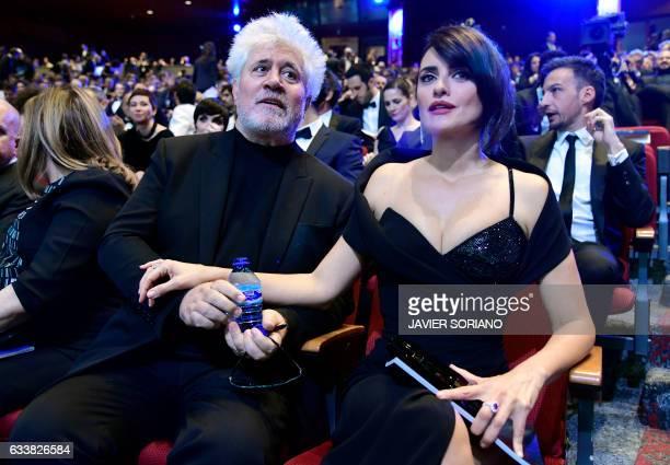 Spanish actress Penelope Cruz best actress nominee for her role in 'La reina de Espana' and Spanish film director Pedro Almodovar nominee best...