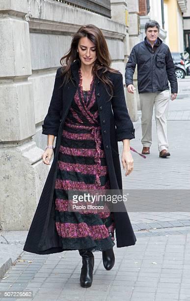 Spanish actress Penelope Cruz is seen on January 28 2016 in Madrid Spain