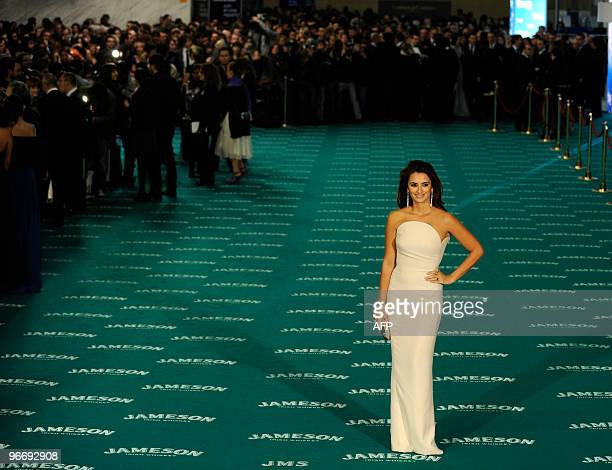 Spanish actress Penelope cruz nominated as best actress for the film 'Broken Embraces' by Pedro Almodovar arrives at Goya Film Awards ceremony on...
