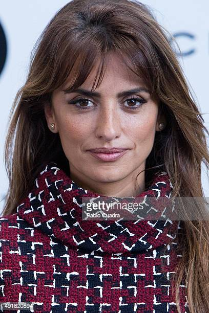 Spanish Actress Penelope Cruz presents her new cinema project at Viceroy Headquarters on October 8 2015 in Madrid Spain